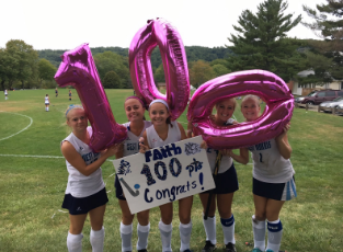 Faith Spaziano scores 100 points!