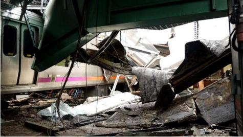 NJ Transit Train Crashes into Platform in Hoboken Train Station