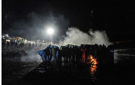 Police Use Water Cannons on Dakota Access Pipeline Protesters in Below-Freezing Weather