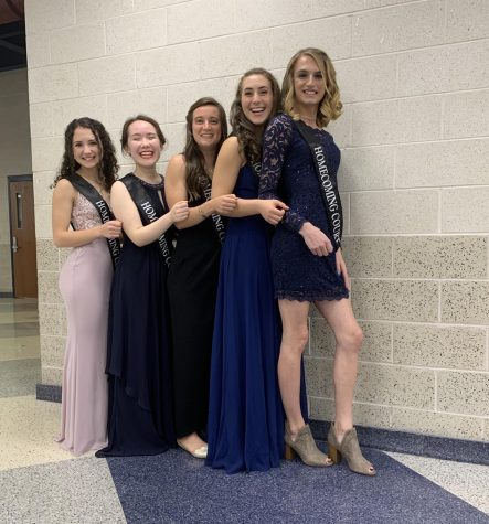 The 2019 Homecoming Queen Nominees! From left to right: Sophie Defaria, Jenna Cooley, Julia Trethaway, Lauren Davies, and Bree Harm