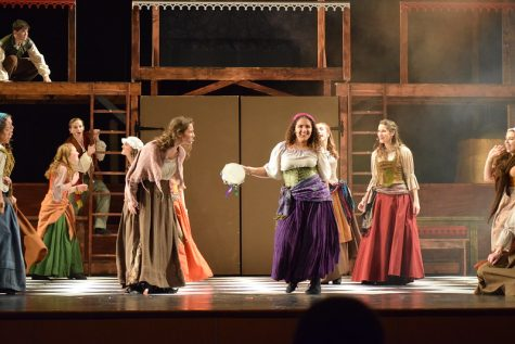 Marisol Medina as Esmeralda and the rest of the Cast dancing... Photographed by Leta Davis