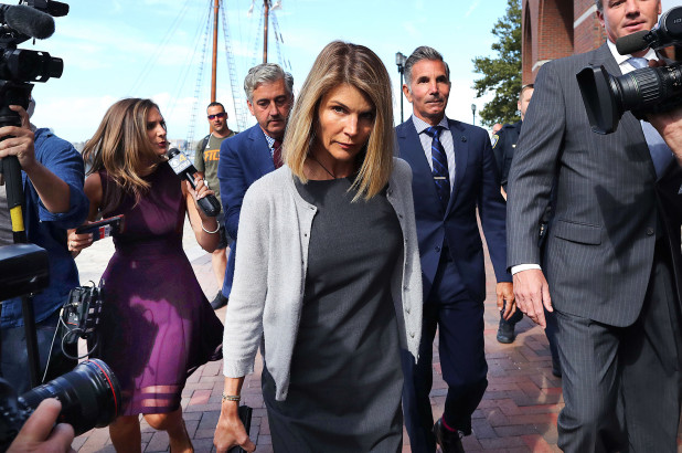 Lori Loughlin makes her court appearance on August 27, 2019.   Mercury News