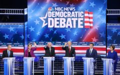 In a spectacular debate at the Paris Las Vegas resort, the Democratic candidates for president opened up new lines of attack on each other from healthcare to immigration, highlighting the bitter divides that still remain in the party. Pictured left to right are Michael Bloomberg, Elizabeth Warren, Bernie Sanders, Joe Biden, Pete Buttigieg, and Amy Klobuchar. Photo credits: Mario Tama/Getty Images.