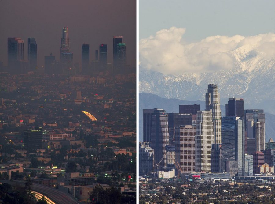 Smog thins in Los Angeles. National Geographic