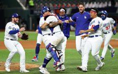 Dodgers celebrating victory