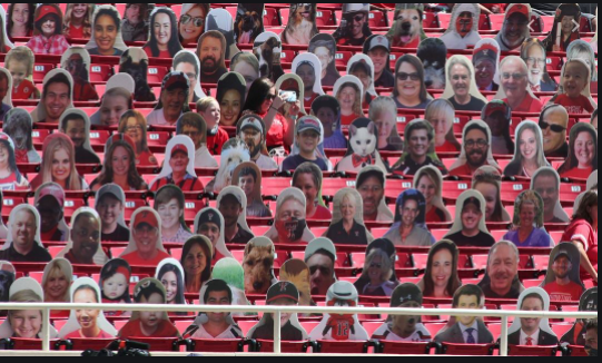 Cardboard cutouts of fans take the place of real fans amid Coronavirus