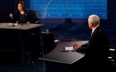Vice-presidential nominees Senator Kamala Harris (left, D-CA) and incumbent Vice President Mike Pence (right, R-IN) square off at the first and only vice-presidential debate. In many ways, the debate reflected a throwback to the past, featuring a veneer of civility that is distinctly unfamiliar in the Trump era. Yet the two candidates, in many ways both better representatives of their parties' bases than their respective running mates, are also clearly padding their resumes for their own future presidential ambitions; they could very well be facing a rematch four years later. Photo credits: Morry Gash / Pool Photo.