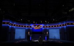 President Donald Trump (left) and former Vice President Joseph Biden (right) squared off with each other and at times Fox News moderator Chris Wallace (center) in a chaotic, messy debate which saw a continuous stream of interruptions, juvenile insults, and accusations of lying. Photo credits; AP Photo/Patrick Semansky.