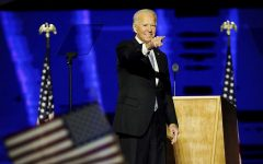 President-elect Joe Biden (pictured) delivers his victory address from Wilmington, Delaware. In a historic victory over incumbent president Donald Trump, Biden won  the largest popular vote count ever in an election with sky-high turnout on both sides. Rather than a revolutionary beginning to a new era, Biden's win seems to signal more of a