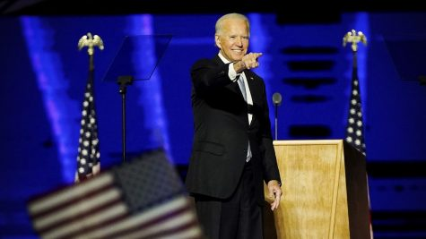 President-elect Joe Biden (pictured) delivers his victory address from Wilmington, Delaware. In a historic victory over incumbent president Donald Trump, Biden won  the largest popular vote count ever in an election with sky-high turnout on both sides. Rather than a revolutionary beginning to a new era, Biden