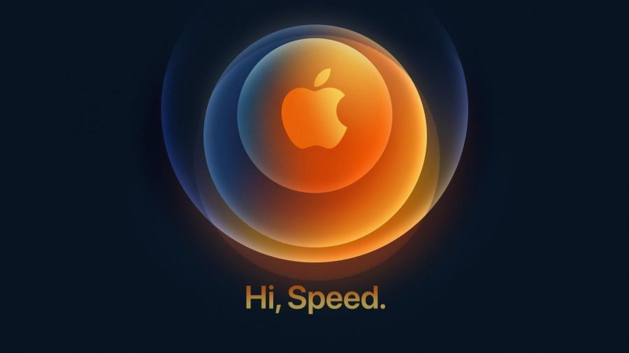 Apple%27s+promotional+logo+for+the+event+hinted+at+dark+blue+colors+%28now+on+iPhone+12+models%29+as+well+as+5G+capability+with+its+tagline.