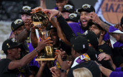 Lakers celebrate following NBA Final win  Mark J. Terrill/Associated Press