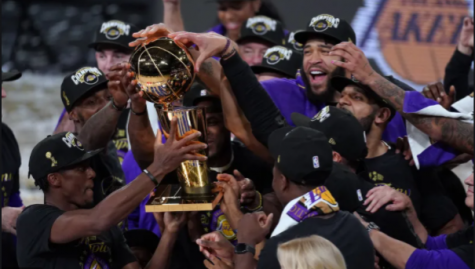 Lakers celebrate following NBA Final win  Mark J. Terrill/Associated Press