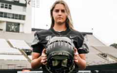 Sarah Fuller, first woman to play in a major college football game.  Photo courtesy of Vanderbilt University