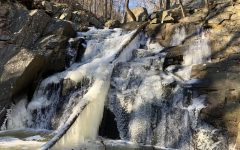 Waterfall at Schooley's Mountain Park, frozen over.