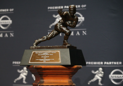 The Heisman Trophy is presented to the most outstanding player in college football each year