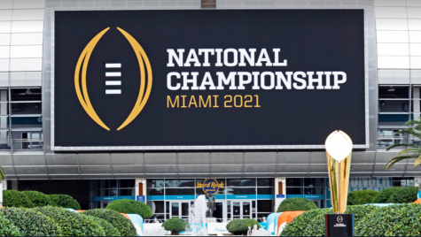 2021 National Championship will be played at Hard Rock Stadium in Miami Gardens, FL between Alabama and Ohio State