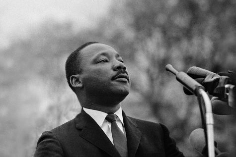 Martin Luther King Jr. speaking.