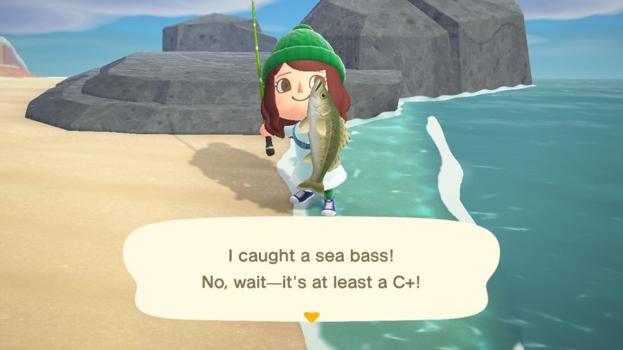 Fishing in Animal Crossing: New Horizons