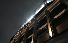 Citi Field at night time with lights on