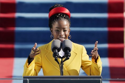 Image of Amanda Gorman Reciting at the Inauguration from Politico