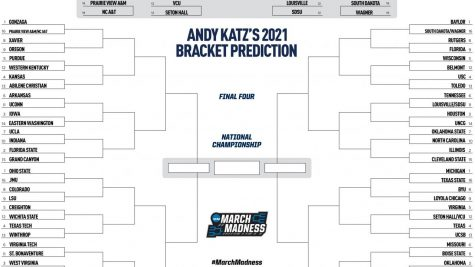 Bracket Prediction made by Andy Katz and published by NCAA