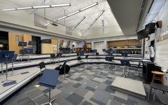 The Band and Orchestra Room, spaced to follow social distancing guidelines.