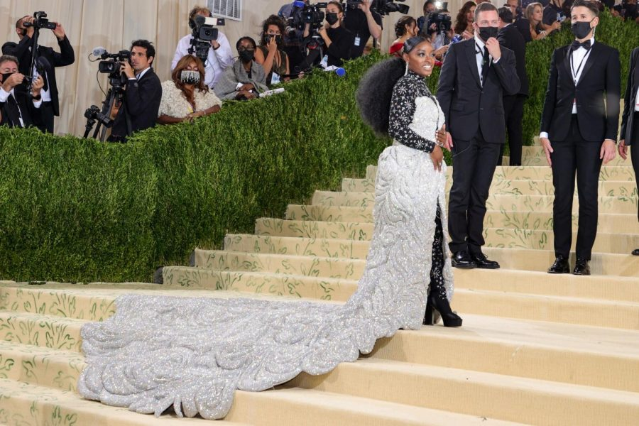 Olympic gymnast Simone Biles, wearing Area and Fred Leighton, at the 2021 Met Gala